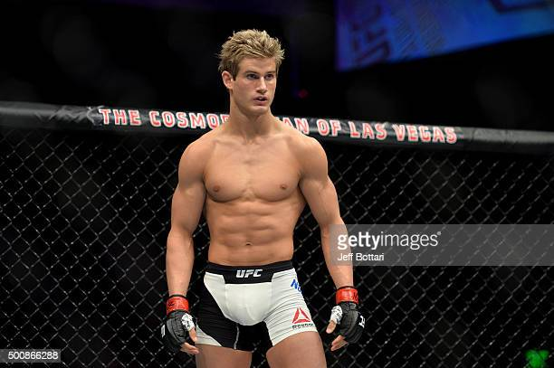 Sage Northcutt before his lightweight bout against Cody Pfister during the UFC Fight Night event at The Chelsea at the Cosmopolitan of Las Vegas on...
