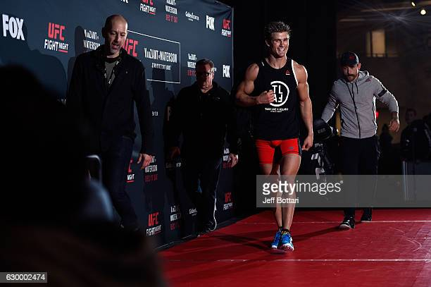 Sage Northcutt holds an open training session for fans and media at the Golden 1 Center on December 15 2016 in Sacramento California