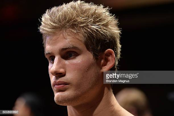 Sage Northcutt on the UFC Prep Point before his lightweight bout against Cody Pfister during the UFC Fight Night event at The Chelsea at the...