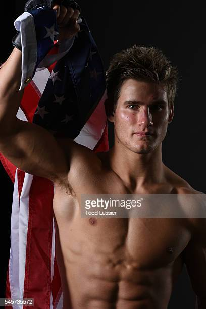 Sage Northcutt poses for a portrait backstage during the UFC 200 event on July 9 2016 at TMobile Arena in Las Vegas Nevada