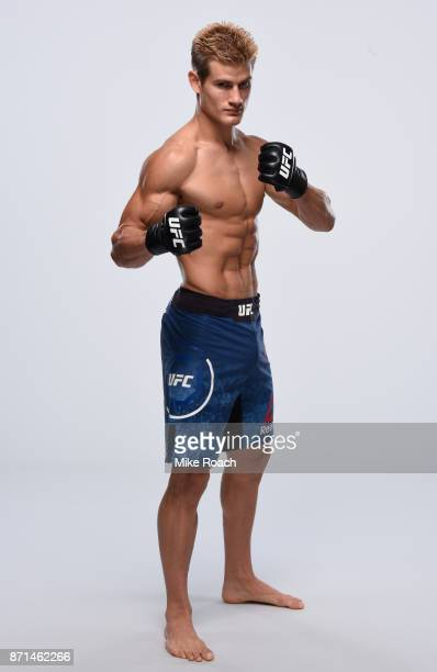Sage Northcutt poses for a portrait during a UFC photo session on November 7 2017 in Norfolk Virginia