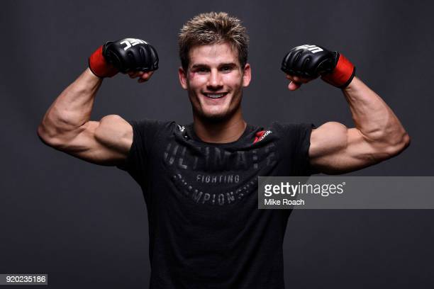 Sage Northcutt poses for a post fight portrait backstage during the UFC Fight Night event at Frank Erwin Center on February 18 2018 in Austin Texas