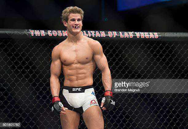Sage Northcutt prepares for the round to begin during his lightweight bout against Cody Pfister during the UFC Fight Night event at The Chelsea at...