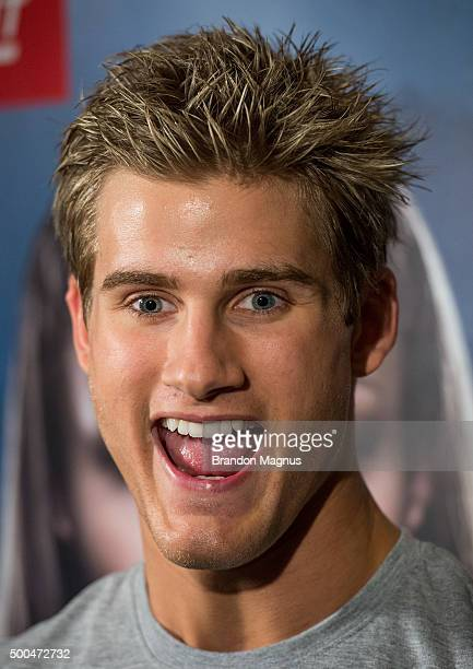 Sage Northcutt speaks to the media at the MGM Grand Hotel/Casino on December 8 2015 in Las Vegas Nevada