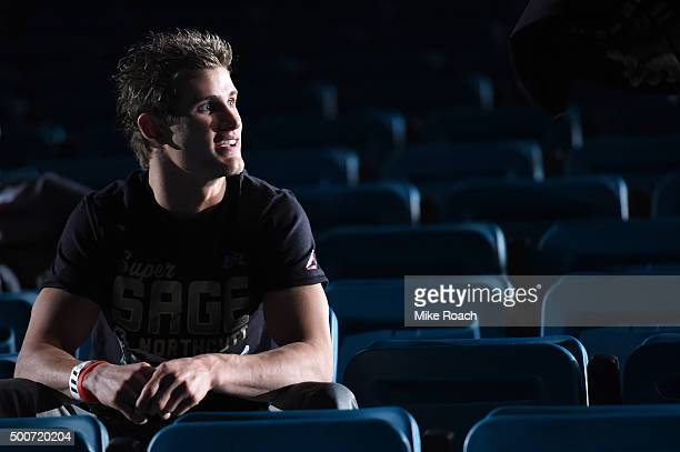 Sage Northcutt waits backstage during the UFC Fight Night weighin event at MGM Grand Garden Arena on December 9 2015 in Las Vegas Nevada