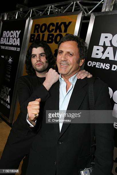 Sage Stallone and Frank Stallone during MGM Pictures Columbia Pictures and Revolution Studios present the World Premiere of 'Rocky Balboa' at...