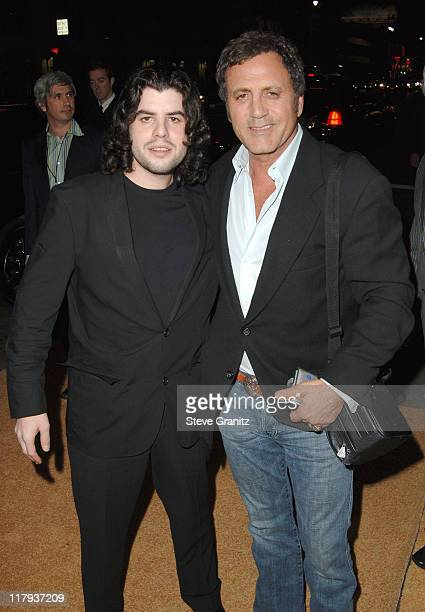 Sage Stallone and Frank Stallone during Rocky Balboa World Premiere Arrivals at Grauman's Chinese Theatre in Hollywood California United States