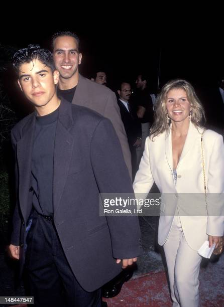 Sage Stallone and mother Sasha Czack attend the Cliffhanger Hollywood Premiere on May 26 1993 at the Mann's Chinese Theatre in Hollywood California