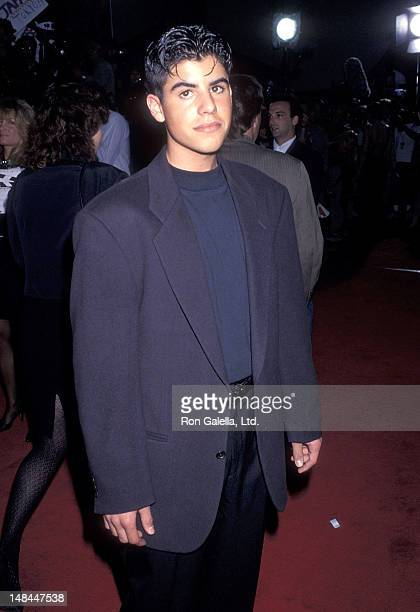 Sage Stallone attends the Cliffhanger Hollywood Premiere on May 26 1993 at the Mann's Chinese Theatre in Hollywood California