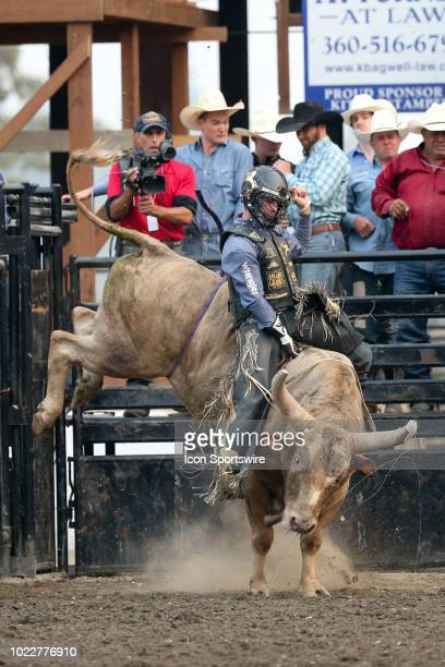 Sage Steele Kimzey was not able to score during the PRCA Pro Rodeo