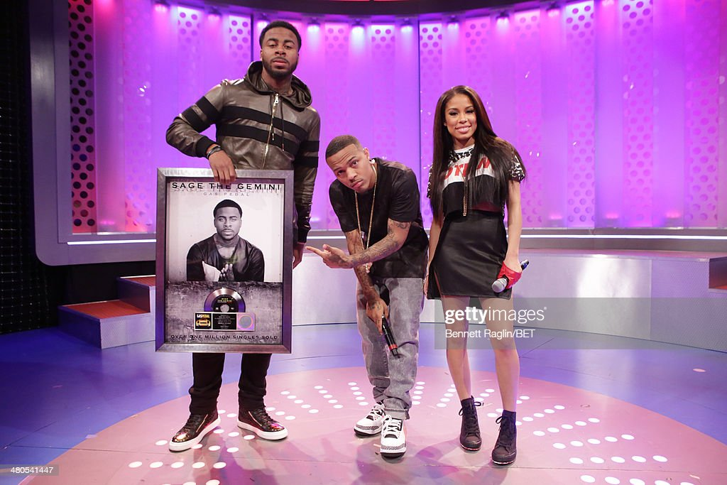 Sage The Gemini, Bow Wow, and Keshia Chante attend 106 & Park at BET studio on March 24, 2014 in New York City.