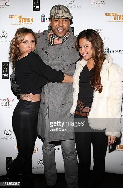 Sagen Albert BJ Coleman and Michelle Jimenez attend the Shooting Star The Rise of Hip Hop Photographer Johnny Nunez DVD release party at Veranda on...