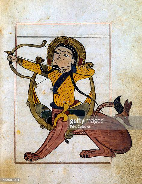 Sagittarius 13th century Illustration from a treatise on astrology in Arabic in the collection of the Bibliotheque Nationale Paris