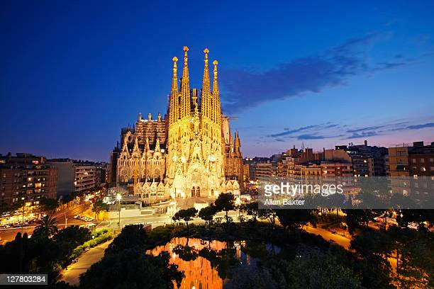 Sagrada Familia at dusk