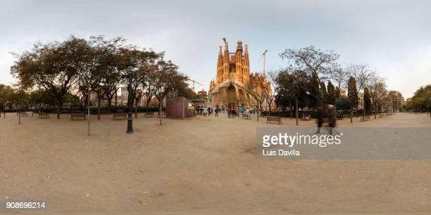 sagrada familia basilic. barcelona - familia stock pictures, royalty-free photos & images