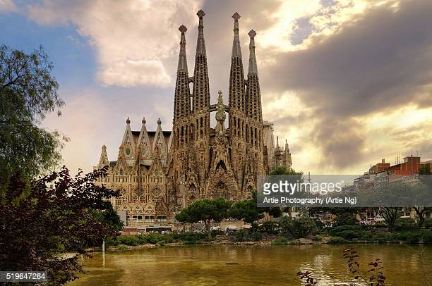 Sagrada Familia (Basilica and Expiatory Church of the Holy Family) By Antoni Gaudi, Barcelona, Spain