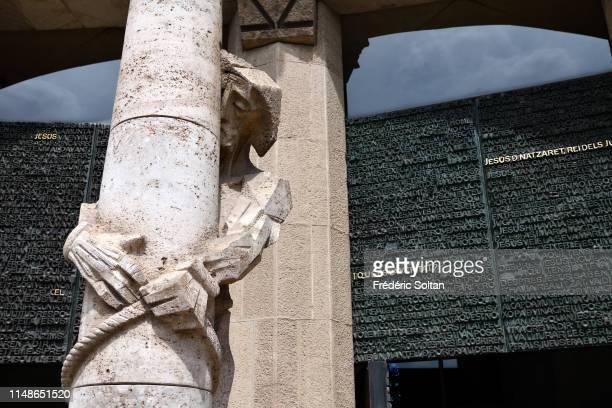 Sagrada Familia By Antoni Gaudi in Barcelona on April 02, 2019 in Spain.