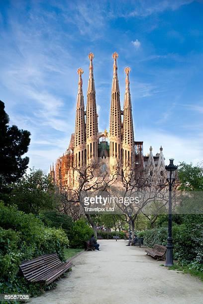 sagrada familia cathedral by gaudi - sagrada familia stock pictures, royalty-free photos & images