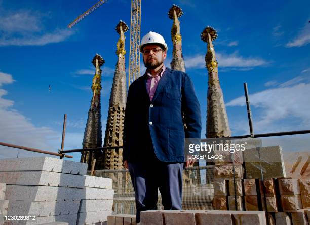 Sagrada Familia church's architect Jordi Fauli poses on October 30, 2010 on the construction site of Barcelona's famous temple. Pope Benedict XVI...