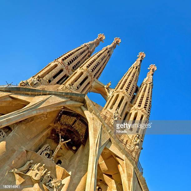 sagrada familia in barcelona - sagrada familia stock pictures, royalty-free photos & images