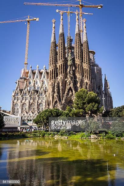 sagrada familia nativity facade - familia stock pictures, royalty-free photos & images