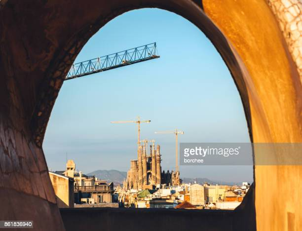 Sagrada Familia Through La Pedrera
