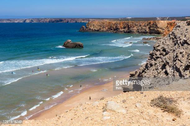 sagres beach (sagres, portugal) - sagres stock pictures, royalty-free photos & images