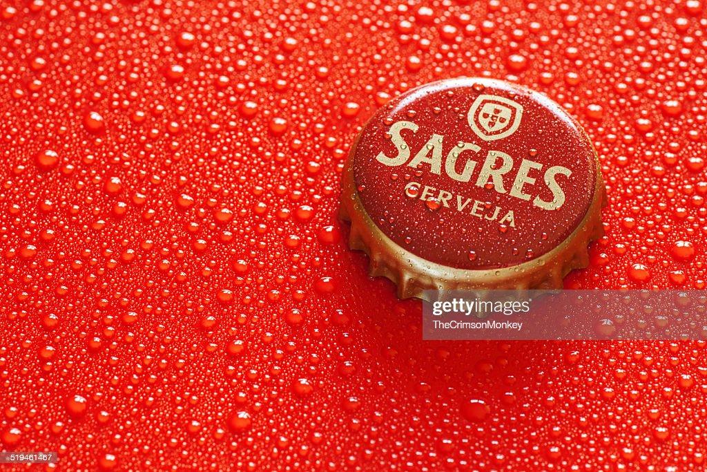 サグレスビールボトルキャップ : ストックフォト