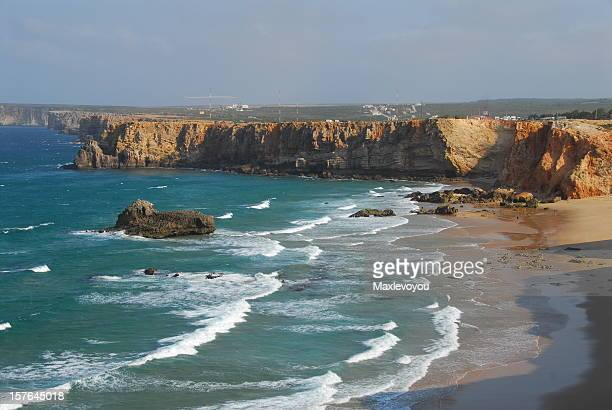 sagres cliff - sagres stock pictures, royalty-free photos & images