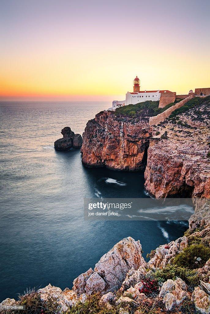 Sagres Lighthouse, Algarve, Portugal : ストックフォト