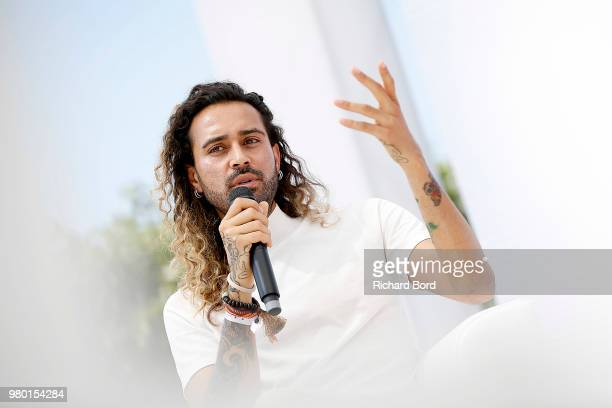 Sah D'Simone speaks onstage during the Havas NY session at the Cannes Lions Festival 2018 on June 21 2018 in Cannes France