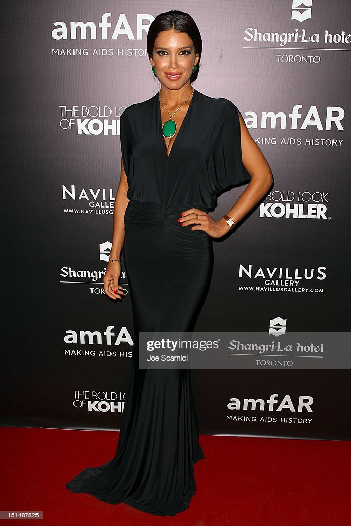 Sahar Biniaz, Miss Universe Canada 2012 attends amfAR Cinema Against AIDS TIFF 2012 during the 2012 Toronto International Film Festival at Shangri-La Hotel on September 7, 2012 in Toronto, Canada.