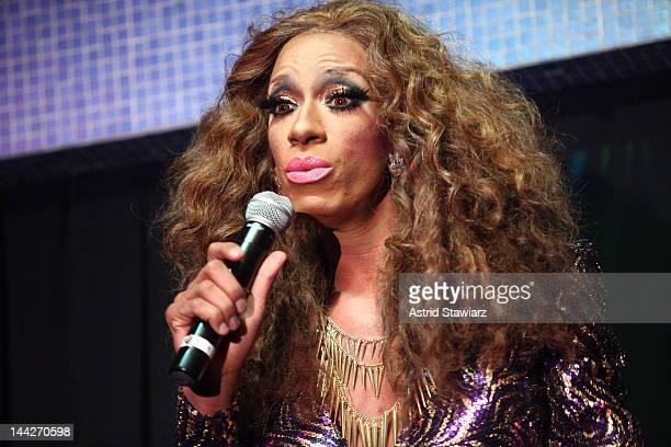 Sahara Davenport performs during A SINsational Make Up Extravaganza Benefitting AIDS Walk New York at Splash Bar on May 13, 2012 in New York City.