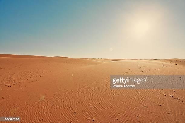 Sahara desert at sunset