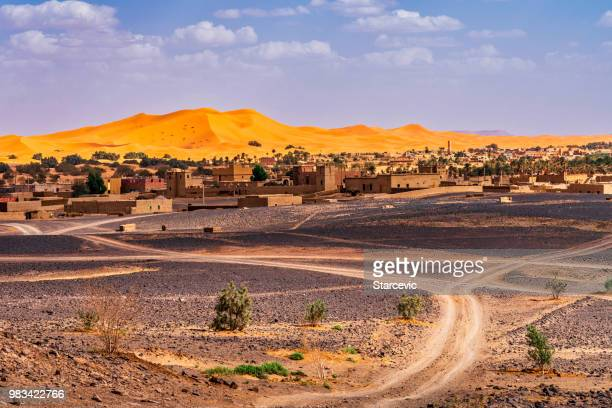 sahara desert - morocco - village stock pictures, royalty-free photos & images