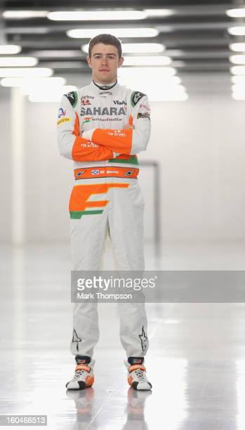 Sahara Force India Formula 1 driver Paul Di Resta of Great Britain poses for a portrait during the unveiling of the team's new car for the 2013...