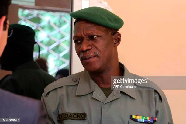 G5 Sahel major general Didier Dacko arrives for a meeting at the Malian Defence Ministry in Bamako on August 1 as part of a Sahel tour by the French...
