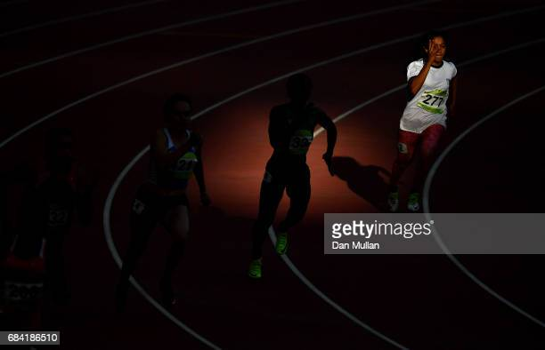 Sahibe Asra of Pakistan competes in the Womens 200m Semi Final during day six of Baku 2017 4th Islamic Solidarity Games at the Baku Olympic Stadium...