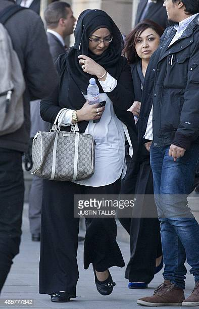 Sahima Begum older sister of Shamima Begum and Fahmida Aziz first cousin to Khadija Sultana leave the House of Commons Home Affairs Committee after...