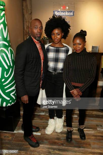 Sahr Ngaujah Jayme Lawson and Nana Mensah stop by TheWrap Studio sponsored by Heineken at Sundance Film Festival on January 26 2020 in Park City Utah