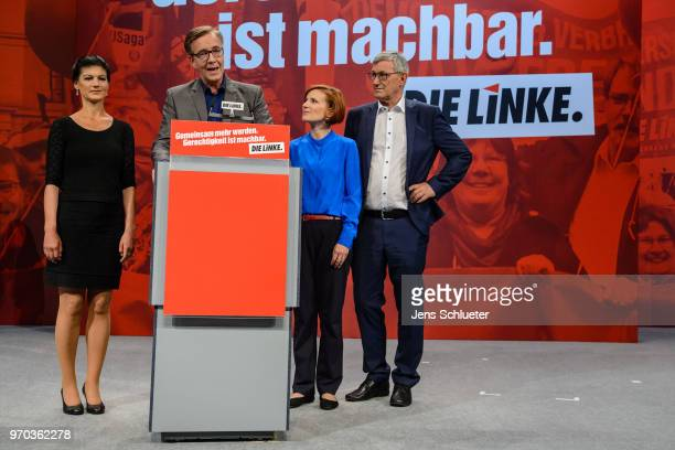 Sahra Wagenknecht Bundestag faction coleader of Die Linke Dietmar Bartsch Bundestag faction coleader of Die Linke Katja Kipping coleader of the Die...