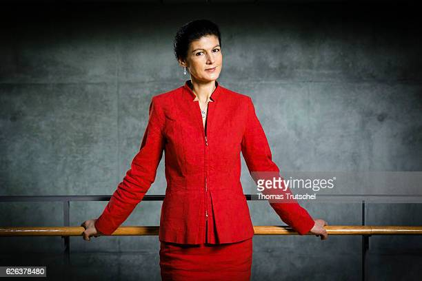 Sahra Wagenknecht DIE LINKE faction in german parliament Bundestag poses during a portrait session on November 23 2016 in Berlin Germany