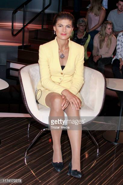 Sahra Wagenknecht during the Markus Lanz TV show on September 11 2019 in Hamburg Germany