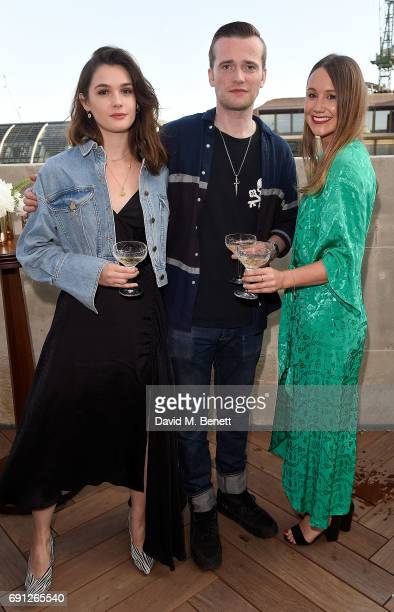 Sai Bennet Sam Doyle and Gemma Boner attend a Fine Tailoring Dinner hosted by Charlie CaselyHayford and Topman at The Ned on June 1 2017 in London...