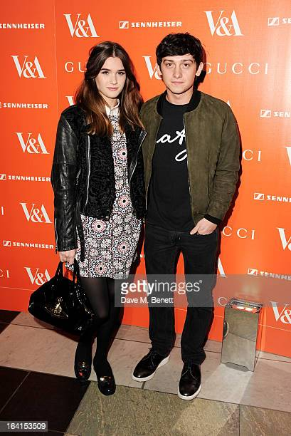 Sai Bennett and Craig Roberts attend the private view for the 'David Bowie Is' exhibition in partnership with Gucci and Sennheiser at the Victoria...