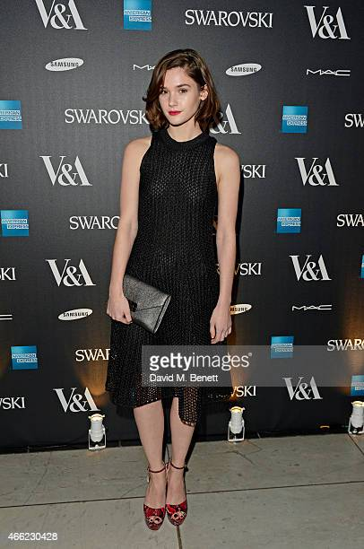 Sai Bennett arrives at the Alexander McQueen Savage Beauty VIP private view at the Victoria and Albert Museum on March 14 2015 in London England