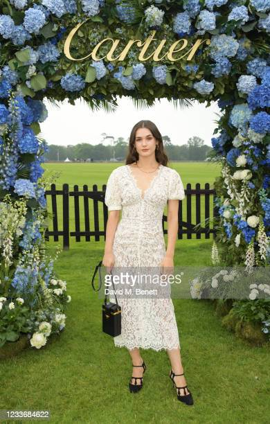 Sai Bennett attends the Cartier Queen's Cup Polo 2021 at Guards Polo Club on June 27, 2021 in Egham, England.
