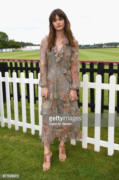 Sai Bennett attends the Cartier Queen's Cup Polo at Guards Polo Club on June 17 2018 in Egham England