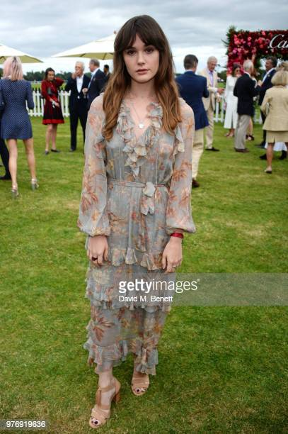 Sai Bennett attends the Cartier Queen's Cup Polo Final at Guards Polo Club on June 17 2018 in Egham England