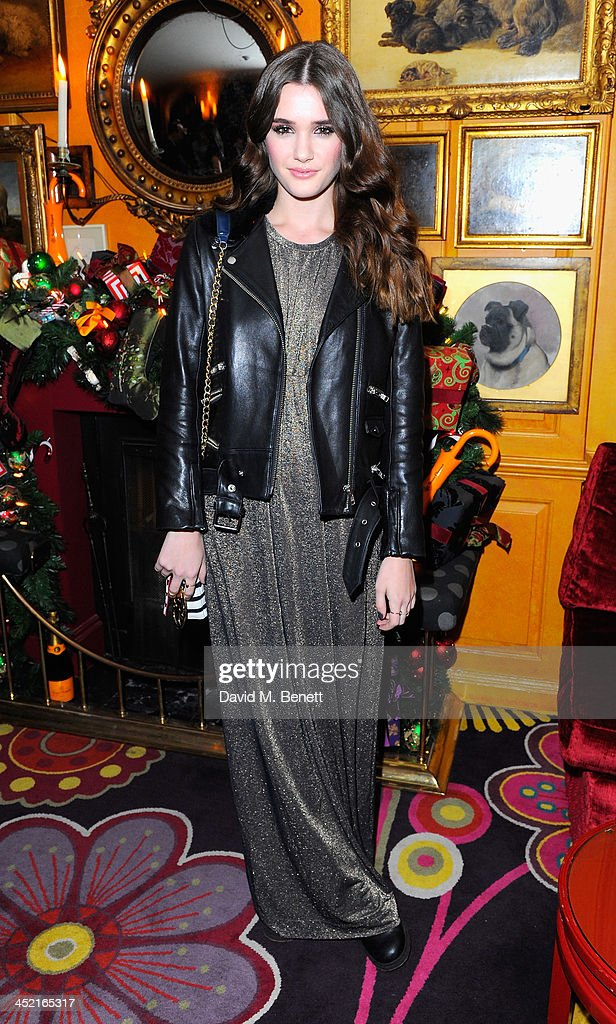 Sai Bennett attends Veuve Clicquot Style Party at Annabel's on November 26, 2013 in London, England.
